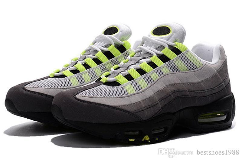 96d54cb7c44 Compre Nike Ai2018 Nuevo Caliente Clásico 95 Barato Para Air Max 95 Zapatos  De Mujer Auténtico Zapatos Casuales Para Hombres Top Al Aire Libre Para  Caminar ...
