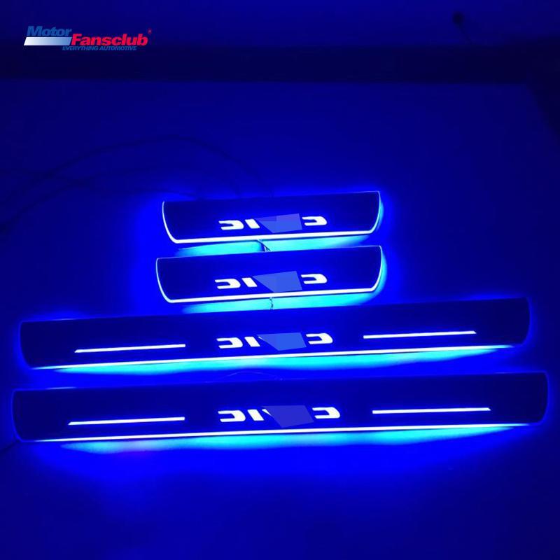 Compre 4 Unids Led Pedal De Barra De Nerf De Movimiento De Coche Luz