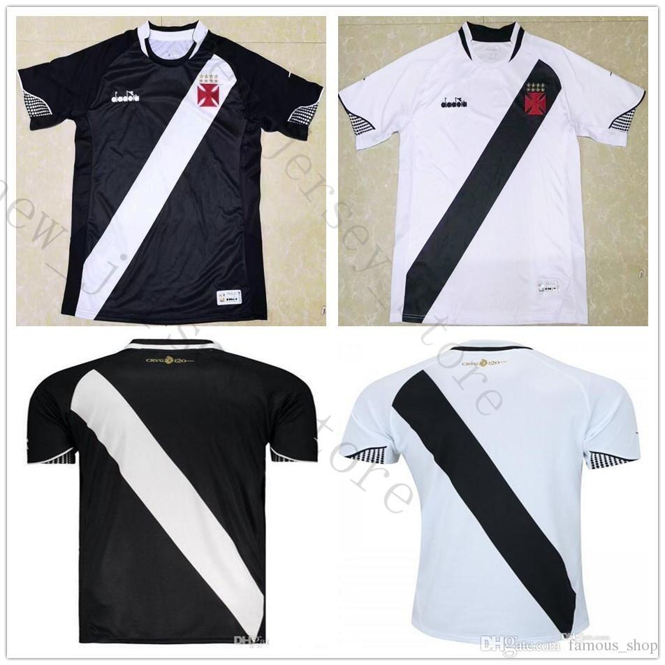 2018 2019 Vasco Da Gama Soccer Jersey Muriq Martin Fabiano MAXI Y.PIKACHU  A. RIOS PAULINHO Home Road Black White Customize Football Shirt Fabiano  Jersey ... f26877f06c282