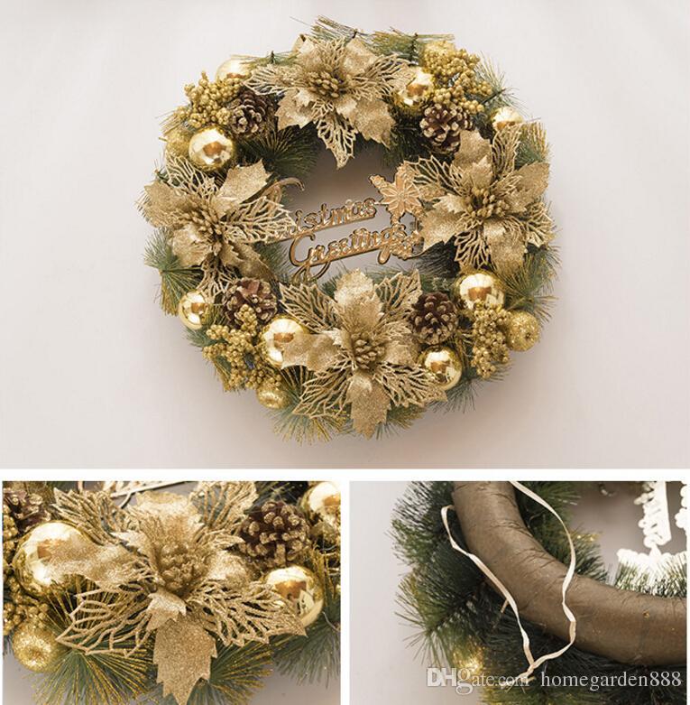 Christmas Gold Exquisite Door Hanging Window Decoration Decoration ...