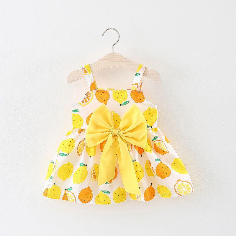 f53b534a2 New style children's wear Korean fashion baby girl sleeveless cute dress  honey lemon girls princess dress