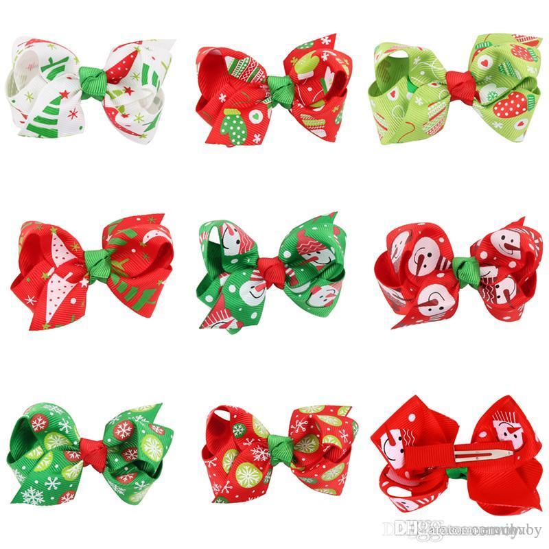 Großhandel Baby Mädchen Haarspangen Weihnachten Haarspangen ...