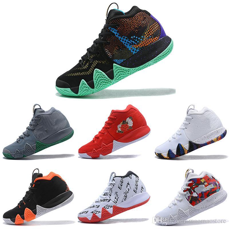 13019b1e51109 Acheter Nike Kyrie Irving 4 4s Kyrie IV Hommes Chaussures De Basket Ball  Top Qualité Irving 4 Confetti Couleur Vert Chaussures De Sport Chaussures  De Sport ...