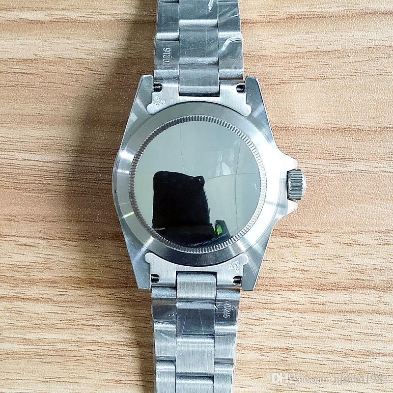 Montre-bracelet de luxe Vintage # 5514 Mouvement mécanique Mouvement mécanique automatique en acier inoxydable Montre-bracelet pour hommes de marque de mode en acier inoxydable