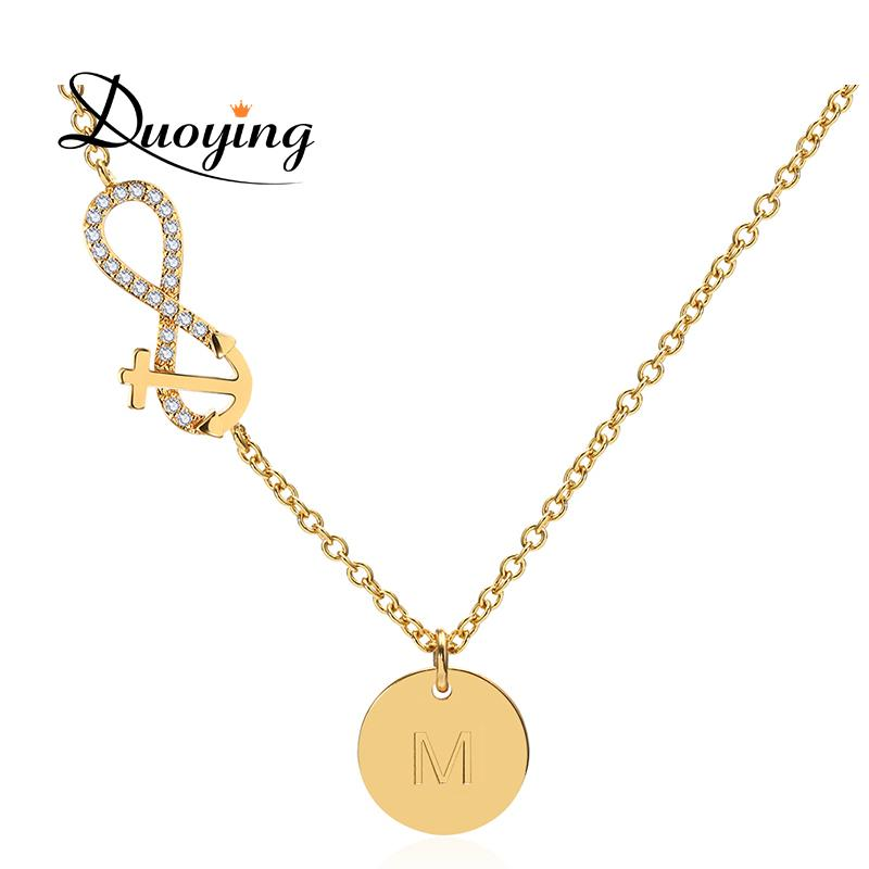 DUOYING dropshipping Custom Engraved Name Necklace For Women Personalized  Initial Necklace Chain Infinity Etsy Supplier