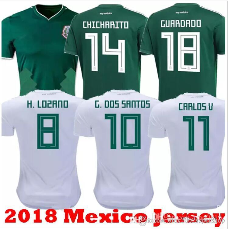 ea18645e8a5f7 Thailand home away MEXICO JERSEYS 2018 2019 world cup CHICHARITO LOZANO DOS  SANTOS HERRERA LAYUN Mexico green kit shirt camisetas de