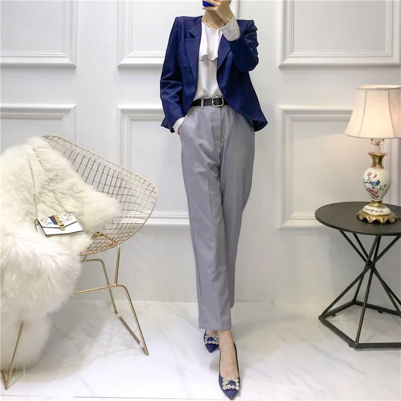 16595d41dd0 Acheter Tenue De Cérémonie Femme + Blouse + Pantalon Vêtements De Travail  Feminino Élégante Tailleur Pour Le Bureau Femme Blazers De  107.12 Du  Manxinxin ...
