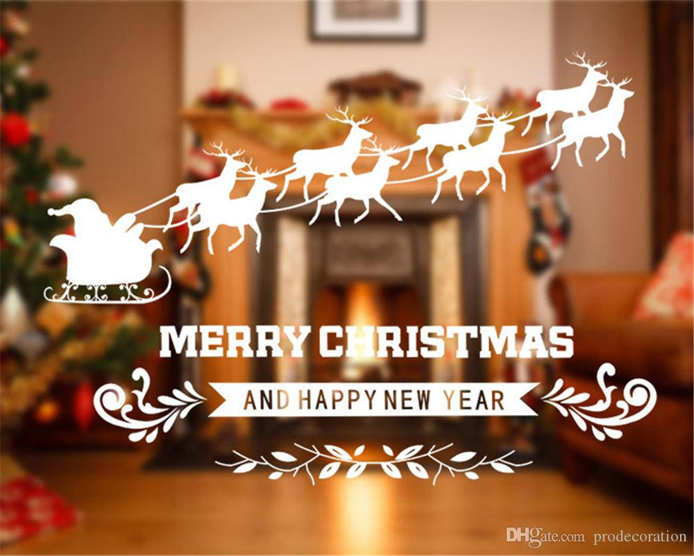 Romantic Christmas Decorative Decal Window Stickers Removable DIY ...