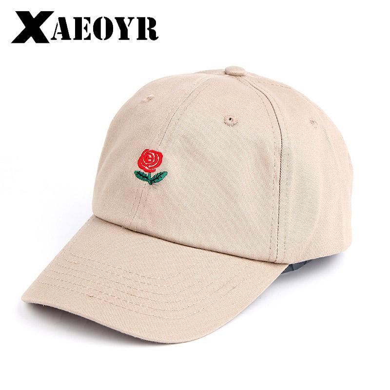 4e4a18b17da6d New Rose Baseball Caps Women Snapback Cap Flower Summer Embroidery Curved  Spring Snapback Caps Men Trapback Hip Hop Hats Bone Flat Brim Hats Baby Cap  From ...