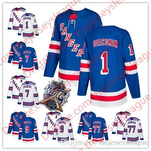 2019 New York Rangers  1 Eddie Giacomin 7 Rod Gilbert 9 Adam Graves 77  Esposito Blue White Winter Classic Navy Retied Players Jerseys S 60 From ... 3dcafa19b
