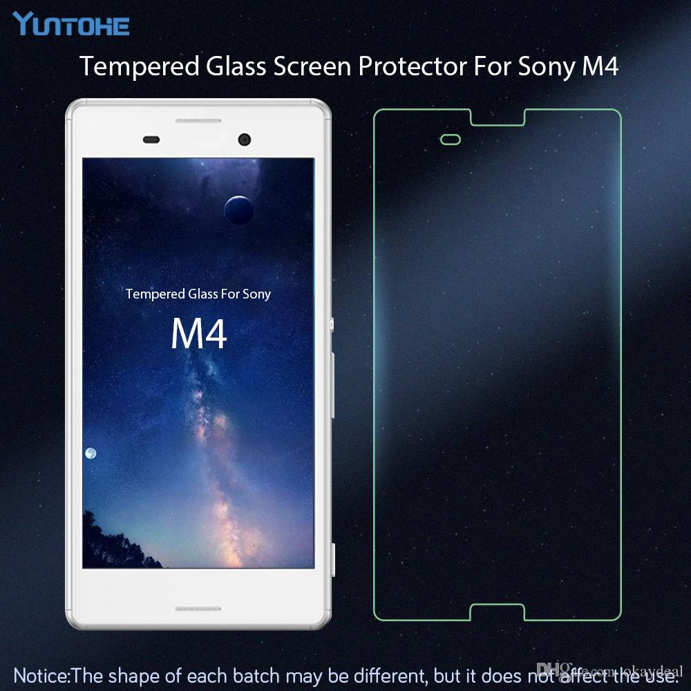 vetro Sony Xperia M4 protezione dello schermo in vetro temperato Sony Xperia M4 vetro Film Phone Sony M4 / lotto
