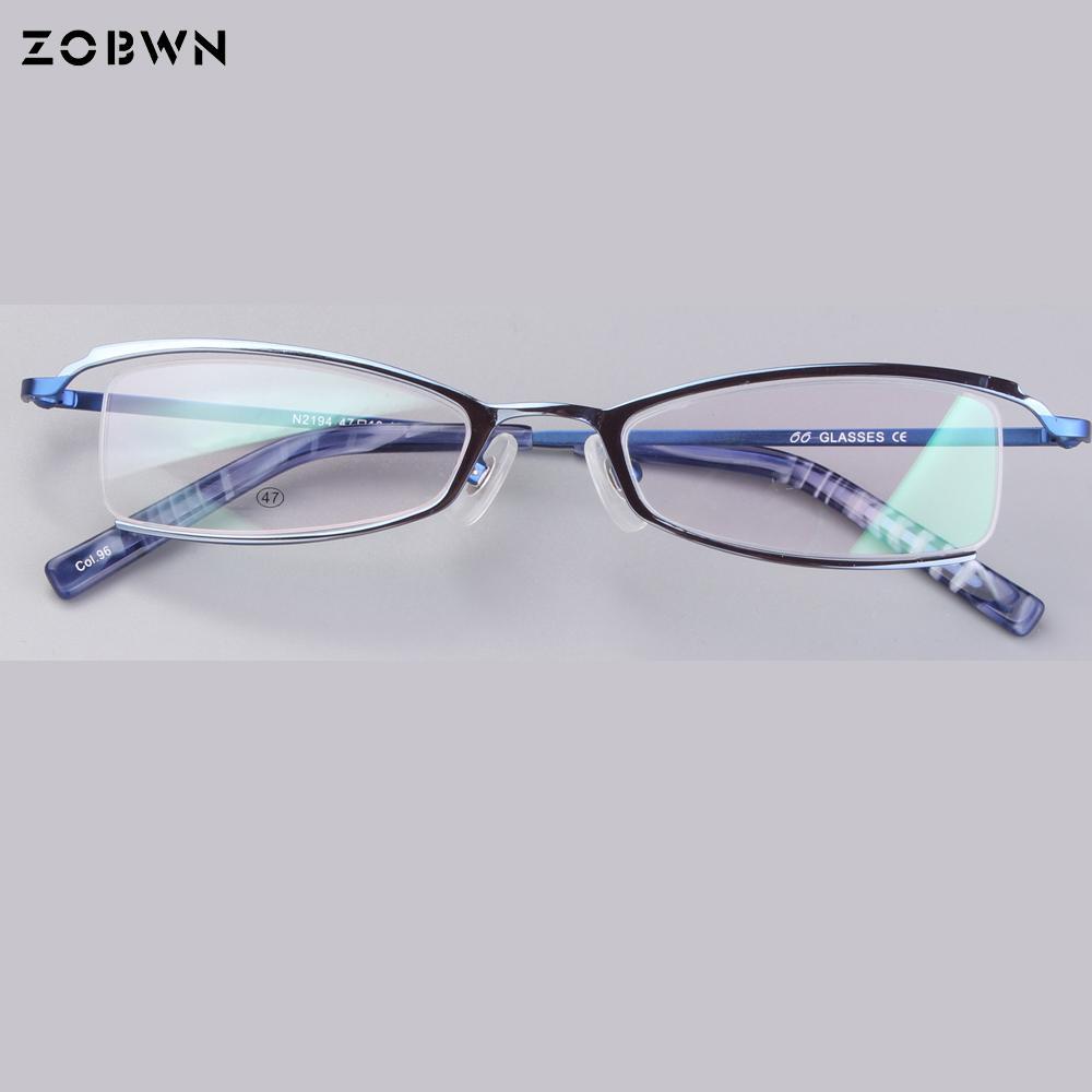 14eb130e9a 2019 Beautiful Half Rim Women Metal Glasses Frames Goggles Optical ...