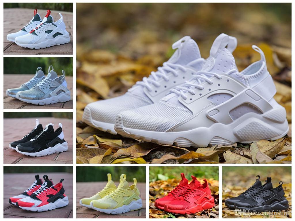 best service d6e47 17acc 2018 New Air Huarache 4 IV Ultra Running Shoes For Men Women All Red  Huraches Huaraches Mens Trainers Hurache Sports Sneakers Size 5 12  Lightweight Running ...