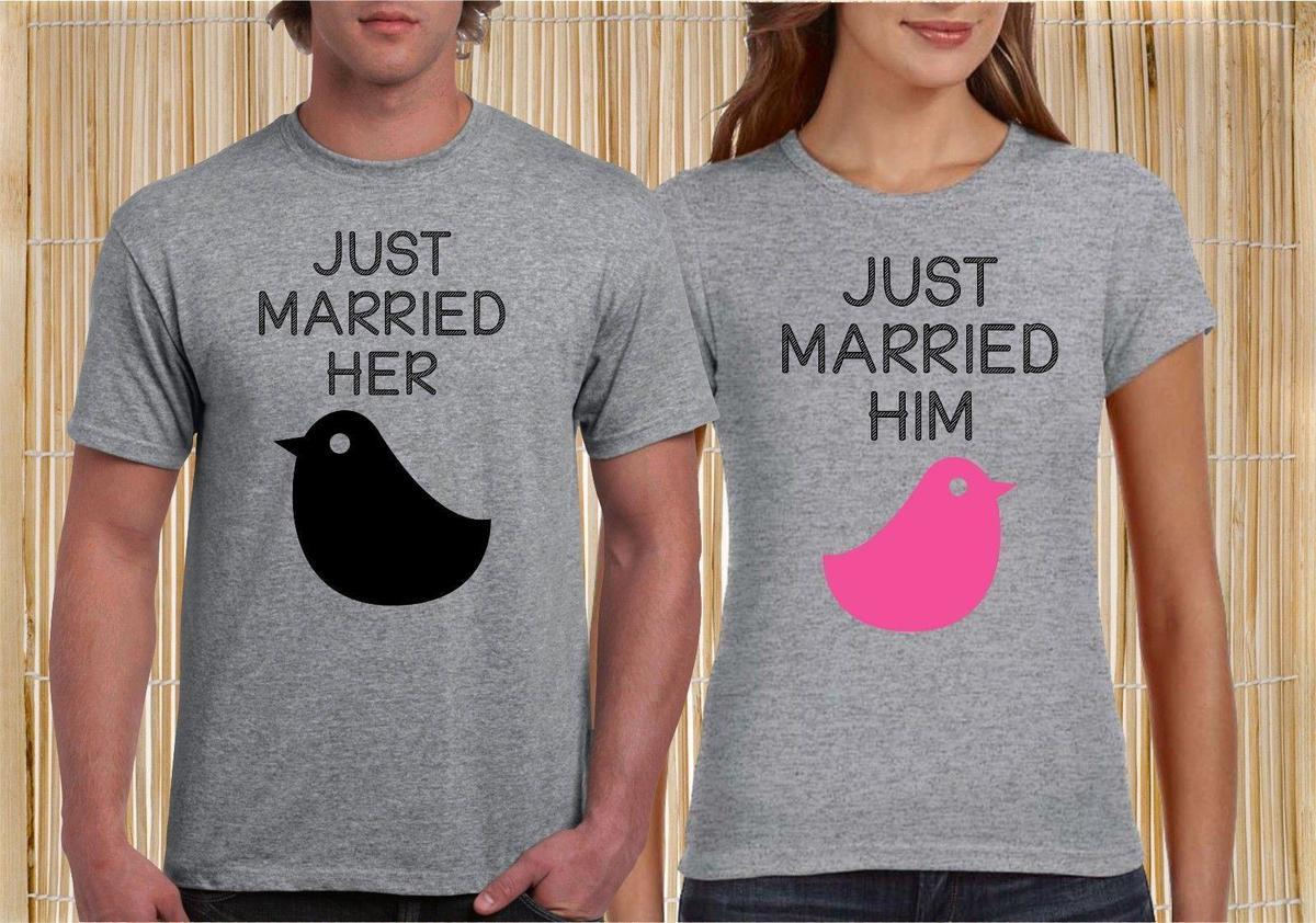22b4997a64 Just Married Love Bird Couple Matching T Shirt Newly Weds Wedding Gift  Honey Tee Design T Shirts Online Order T Shirts From Lefan06, $14.67|  DHgate.Com