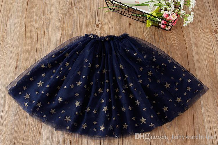 2018 Frühling Kinder Kleidung Mädchen Pettiskirt Kleinkind Mädchen Kleidung Sterne Pailletten Tutu Röcke Mädchen Prinzessin Party Dancewear Babykleidung