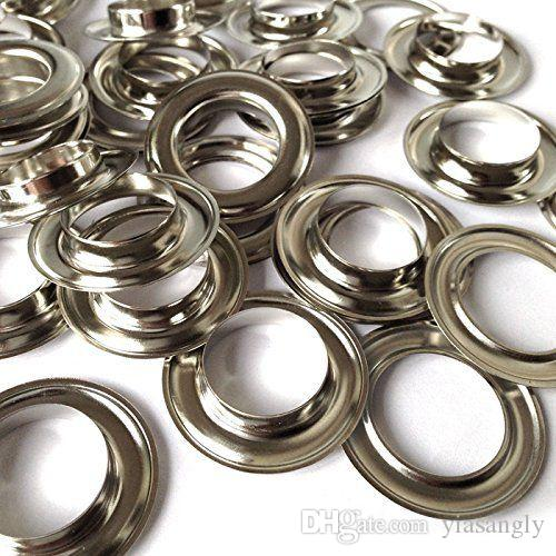 300sets/lot Large Round 20mm Eyelets With 12mm Hole With Washer Pads For Apparel Belt or Scrapbooking Nickel Color