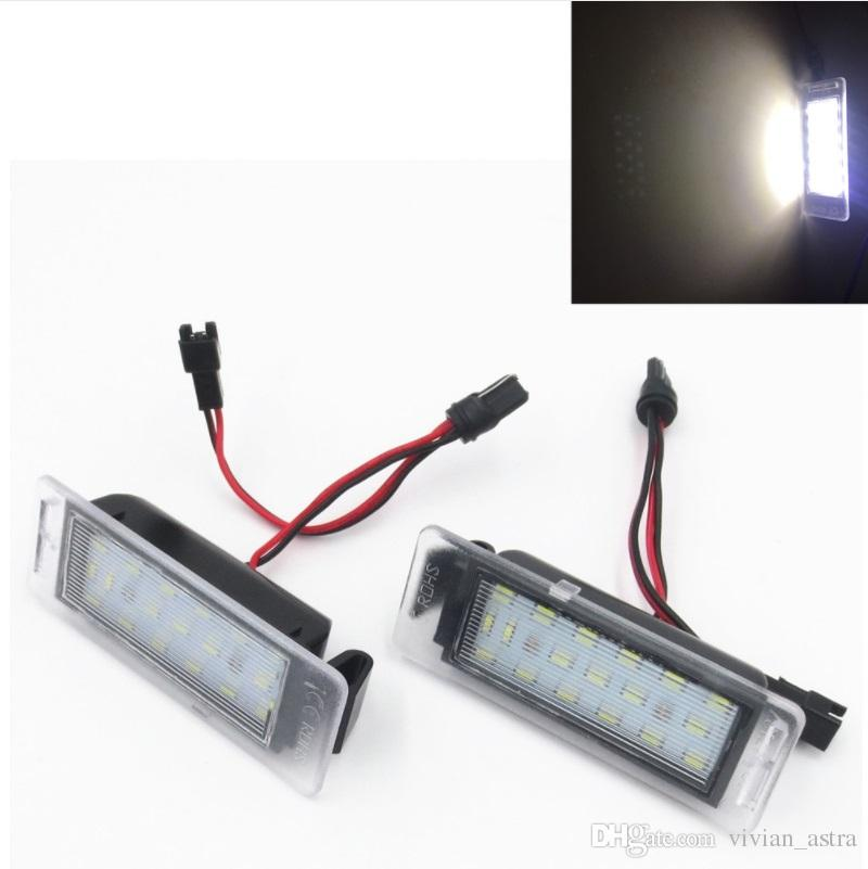 Enjoyable Canbus 18Smd Led Number License Plate Light Bulbs For Opel Vauxhall Wiring Database Heeveyuccorg