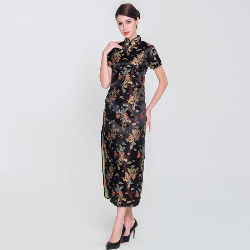 65a03189c 2019 Large Size 3XL 4XL 5XL 6XL Women Chinese Style Dress Elegant Mandarin  Collar Cheongsam Rayon Slim Long Qipao Vintage Vestidos From Hoeasy, ...