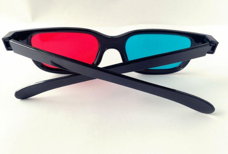 Universal 3D Plastic Glasses Black Frame Red Blue 3D Visoin Glass For Dimensional Anaglyph Movie Game DVD Video TV