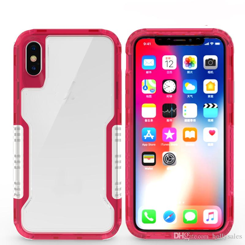 Top cellphone back cover clear robot case Hybrid TPU+Rubber Hard Rugged Armor Phone Case for samsung note 9 S9 S8 PLUS IPHONE X 8 7 PLUS