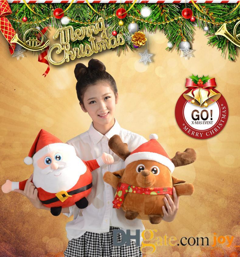 Großhandel Frohe Weihnachten Geschenk Plüsch Puppe Spielzeug Led ...