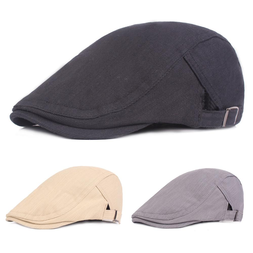 962242abeda 2019 Men Classic Berets Driving Golf Cap Solid Color Adjustable Casual Newsboy  Hat HATCS0325 From Hoganr