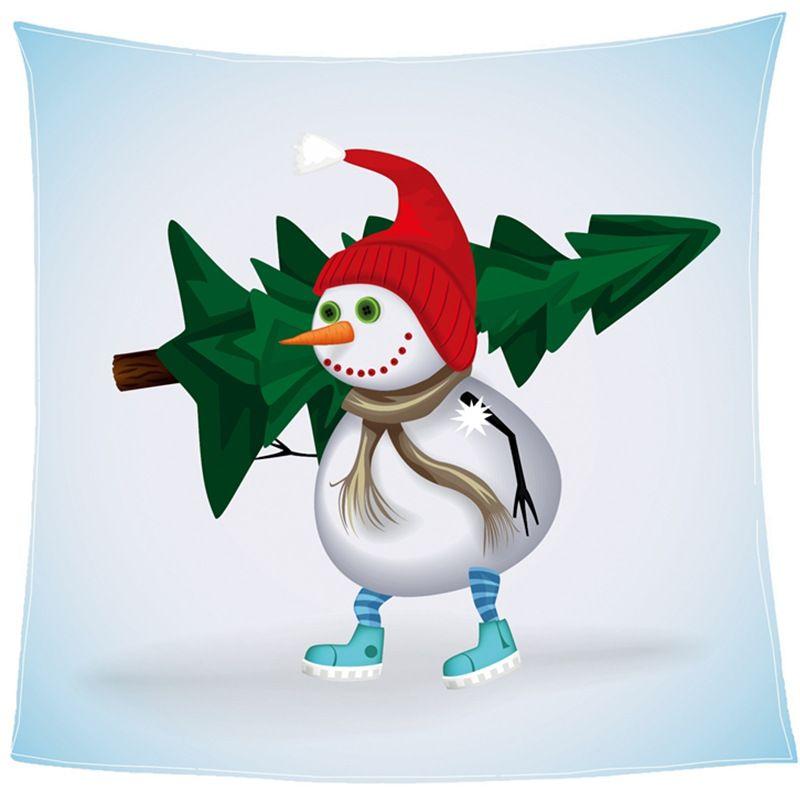 Compre Dibujos Animados De Árbol De Navidad Con Muñeco De Nieve ...