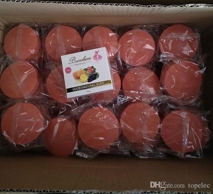 Bumebime İşi Beyazlatma Sabun ile Meyve Temel Doğal Maske Beyaz Parlak Yağ Sabunu ücretsiz shiping DHL
