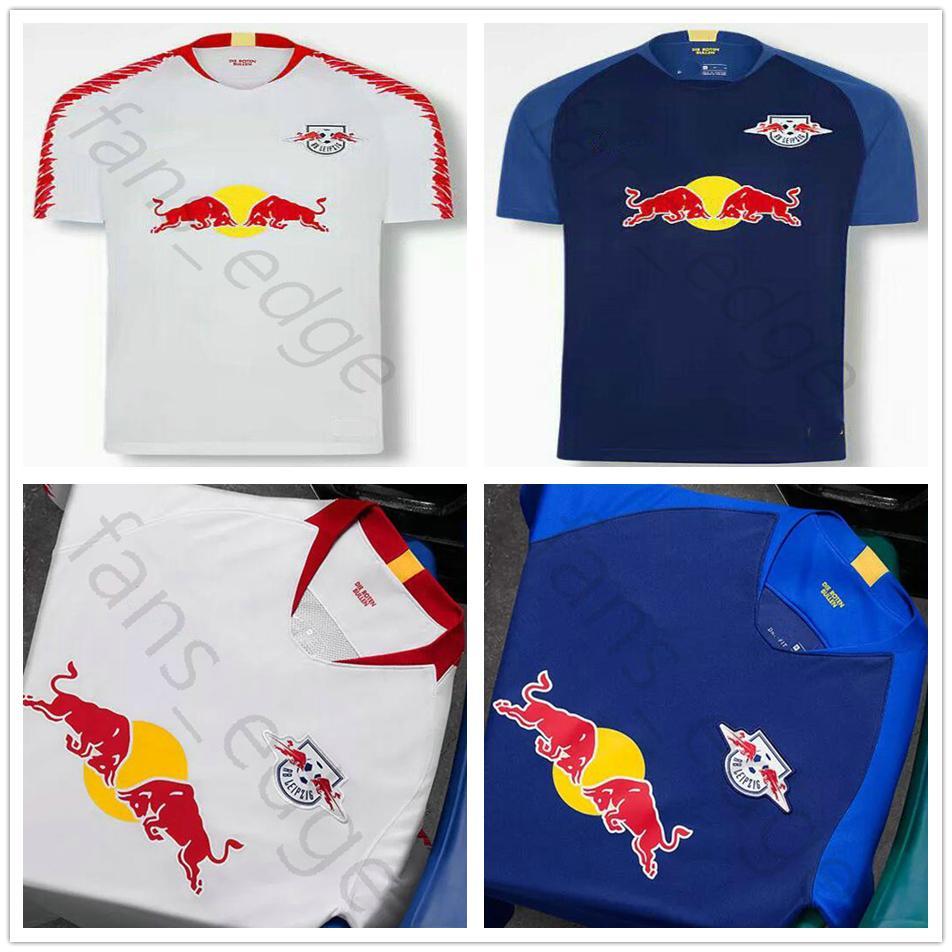 18 19 Leipzig Soccer Jerseys 11 WERNER 7 SABITZER 9 POULSEN 10 ... 7ab50d92d