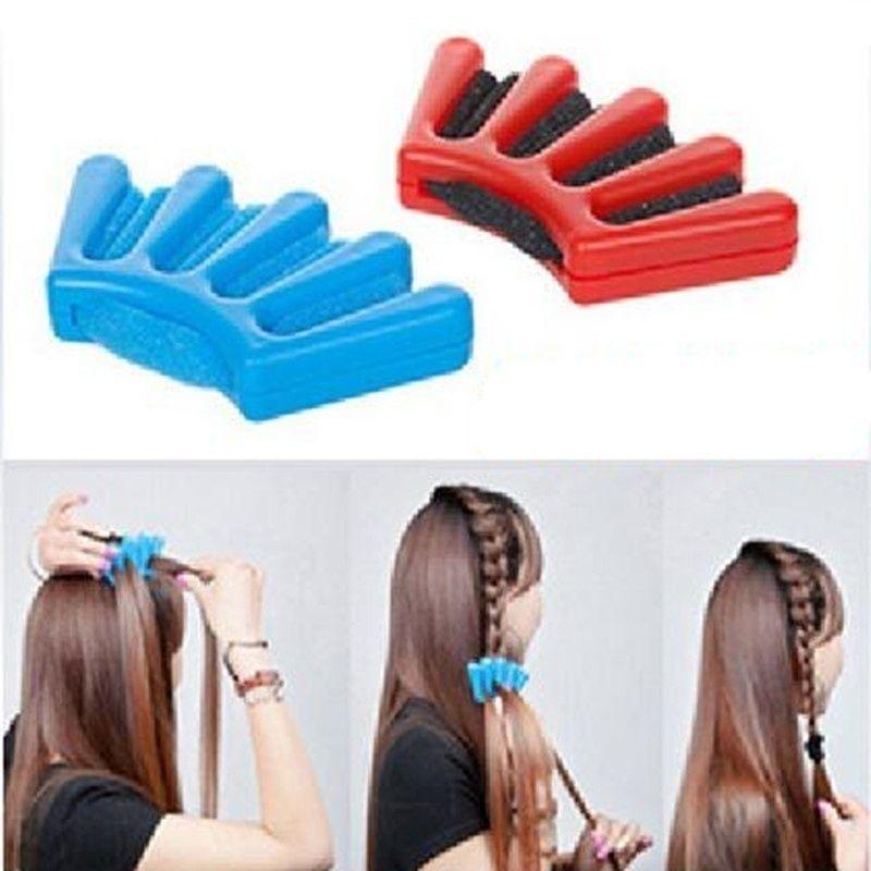 Nouveau Wonder Sponge Hair Braider Twist Styling Braid Tool Holder Clip DIY outre-mer