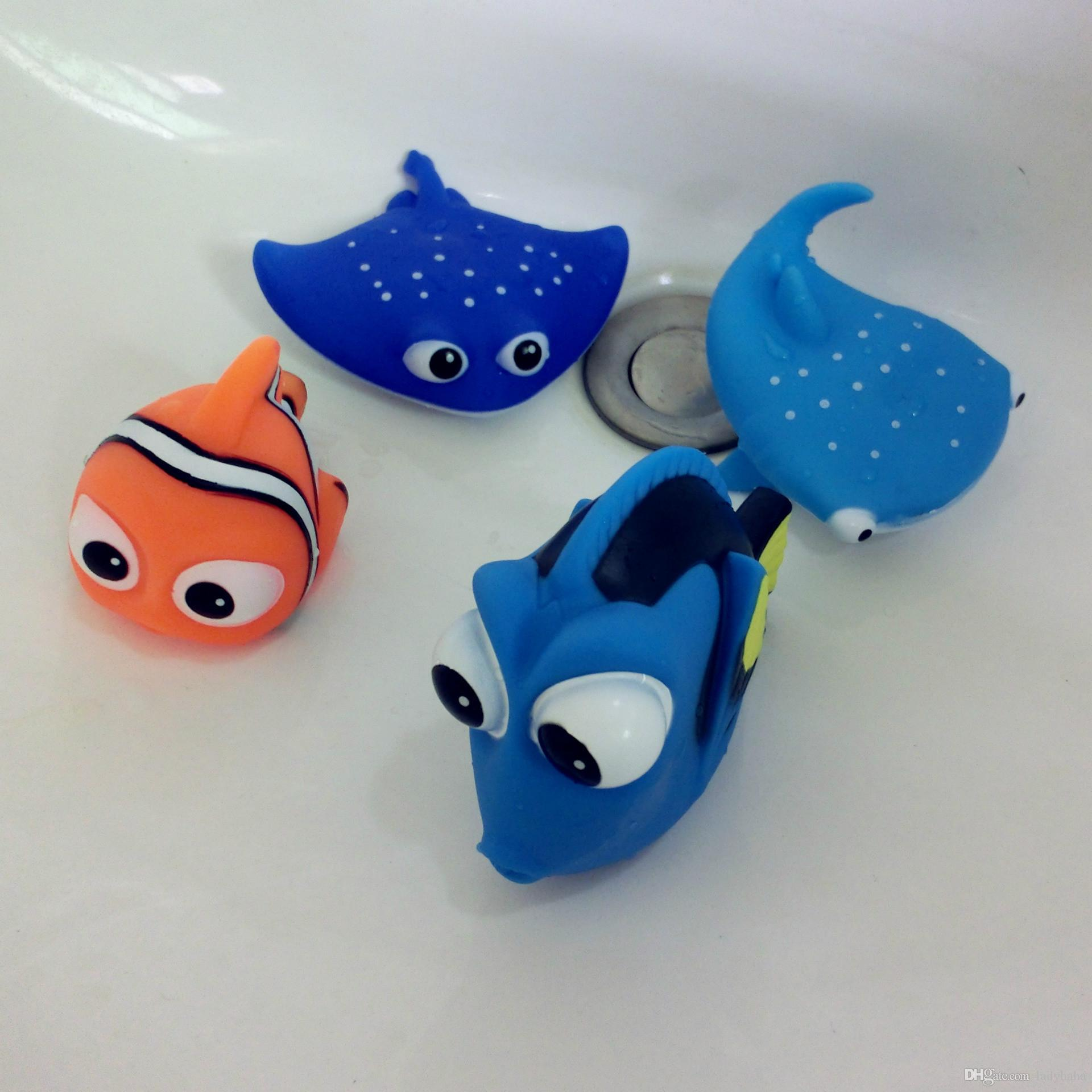 2018 Bath Toys Shower Floating Water Jet Rubber Animal Colorful