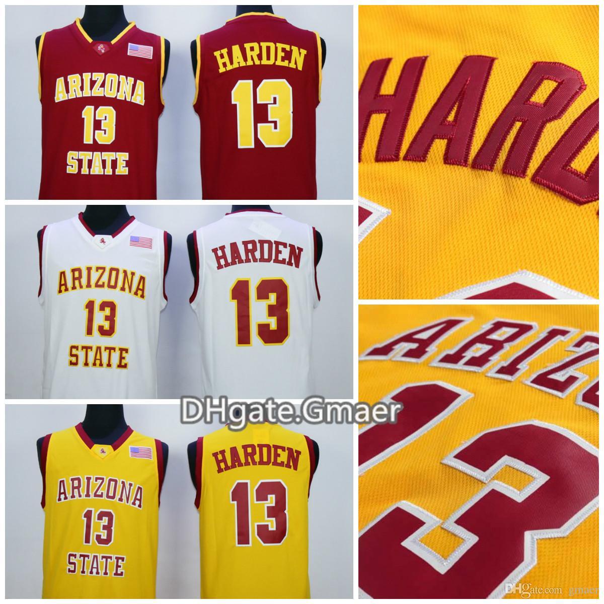 2d28899de Arizona State Sun Devils James Harden College Basketball Jerseys 13 ...