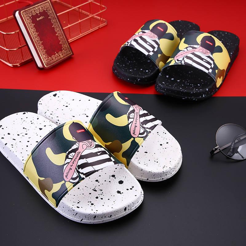 1b163a67179 2018 Brand NewMen Women Beach Slide Sandals Couple Scuffs Slippers ...