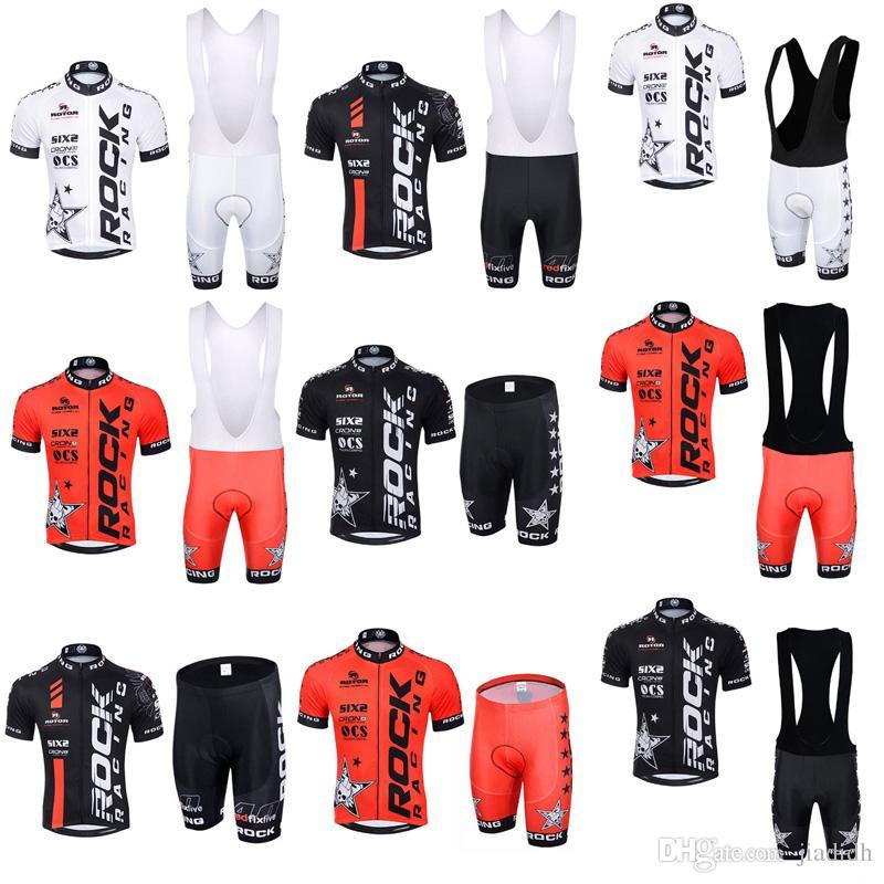 ROCK RACING Team Cycling Short Sleeves Jersey Bib Shorts Sets Breathable  Bicycle Mountain MTB Cycle Clothes Ropa Ciclismo C3021 Mens Cycling Jersey  Bike ... 4ef6cd8cb