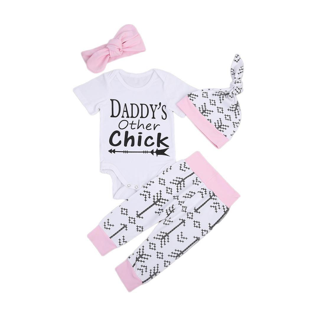 09795e7eef51 Summer Cute Newborn Infant Baby Girls Letter Geometric Print Outfits ...