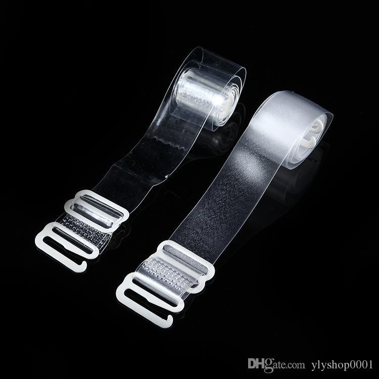 7341b04fdffb8 Women Buckle Bra Straps Belt Women s Elastic Transparent TPU Bra Straps  Adjustable Baldric Intimates Accessories Bra Straps Transparent Bra Straps  Silicone ...