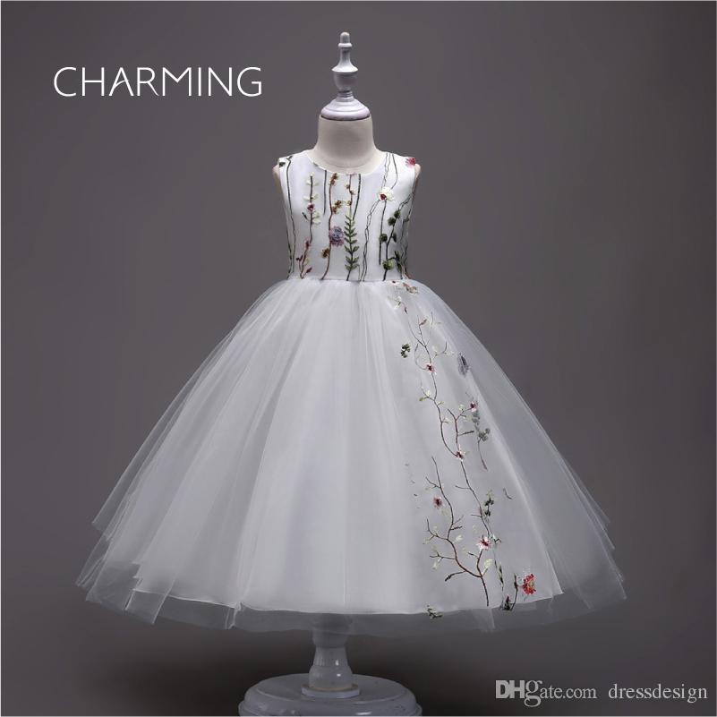 White Party Dresses Ball Gown Flower Girl Dress Embroidered Dress Designer Dresses  Tutu Dresse S Graduation Dresses One Shoulder Flower Girl Dresses Pink ... 6253b5ddb568