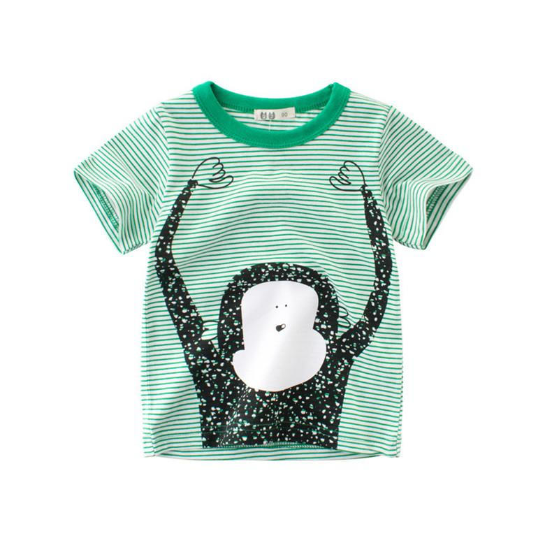 cb0b5986263 2019 Boy Clothes Summer Wholesale Children T Shirts Cartoon Animal Cotton  Casual Boys T Shirts Funny Monkey Baby Boy Tops Tee Kids Clothing From ...