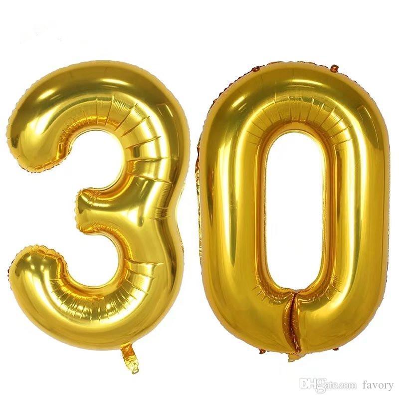 2 قطعة / الوحدة 40 بوصة عدد 30 البالونات احباط بالونات الهيليوم 30 سنة قديم عيد حفل زفاف ديكور لوازم الحدث إمدادات حزب