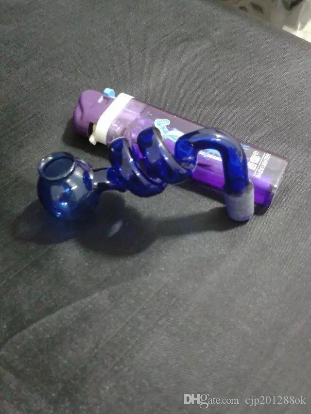 Le nouveau pot spirale bong verre en gros brûleurs à mazout en verre Tubes d'eau Fumeurs huile Rigs