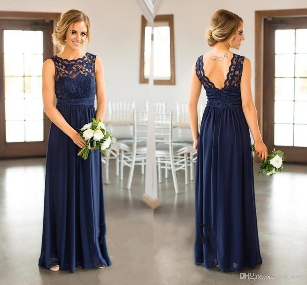 Vestidos para boda en azul