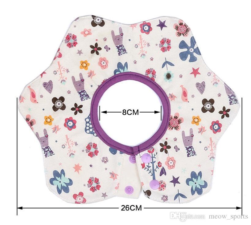 New Baby Bibs Round Neck Burp 360 Degree Cotton Newborn Baby Bibs Waterproof Apron Bib & Burp petal Bib For Infant Kids