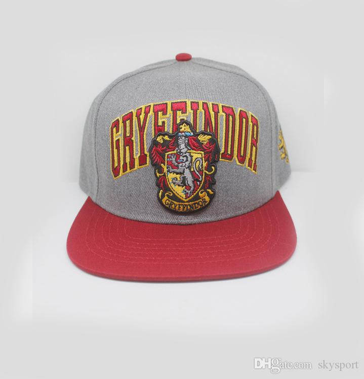 Harry Potter hats Gryffindor Slytherin Skull Caps Hufflepuff Ravenclaw Cosplay Costume hats Snapback Anime lovers Cap Men Women 888