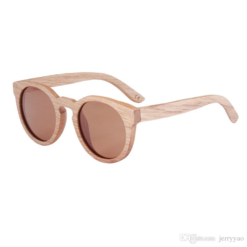 e60420ecd6e 2018 New Style Bamboo Wooden Sunglasses Vintage Bamboo Wooden Sunglasses  Handmade Polarized Mirror Coating Lenses Eyewear Sport Glasses Electric  Sunglasses ...
