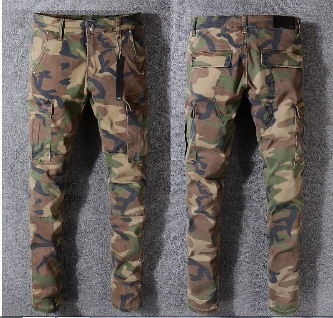 784fadf0e8f4be 2019 NEW 2018 JAY Z CAMO PANTS SLIM TYGA Camo Justin Bieber Jeans Trousers  Hip Hop Fashion NEW KANYE WEST Fear Of God Camouflage From Caesarl