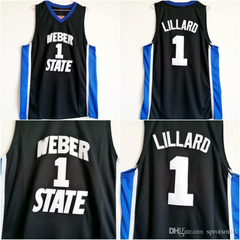 ef20f538864 ... greece 1 damian lillard weber state jersey cheap lillard black college  jersey stitched university retro basketball