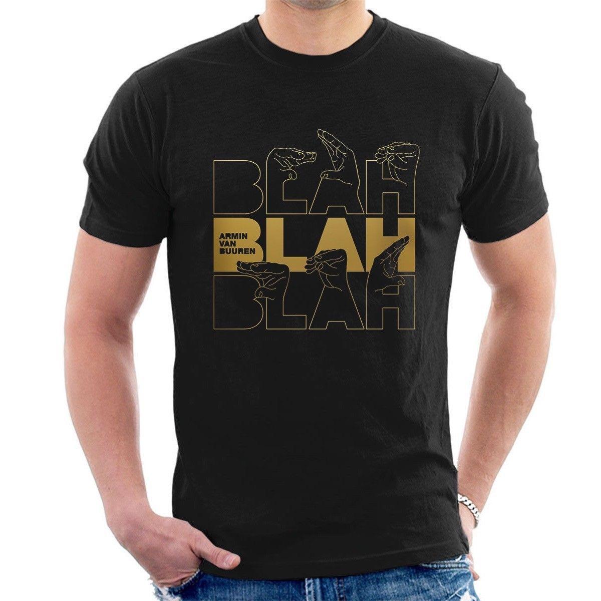 d5288d32f Compre ARMIN VAN BUUREN BLAH BLAH BLAH CAMISETA Trance Music Fans B33 Tops  Al Por Mayor Tee Personalizada Environmental 2018 Hot Tees A  11.01 Del ...