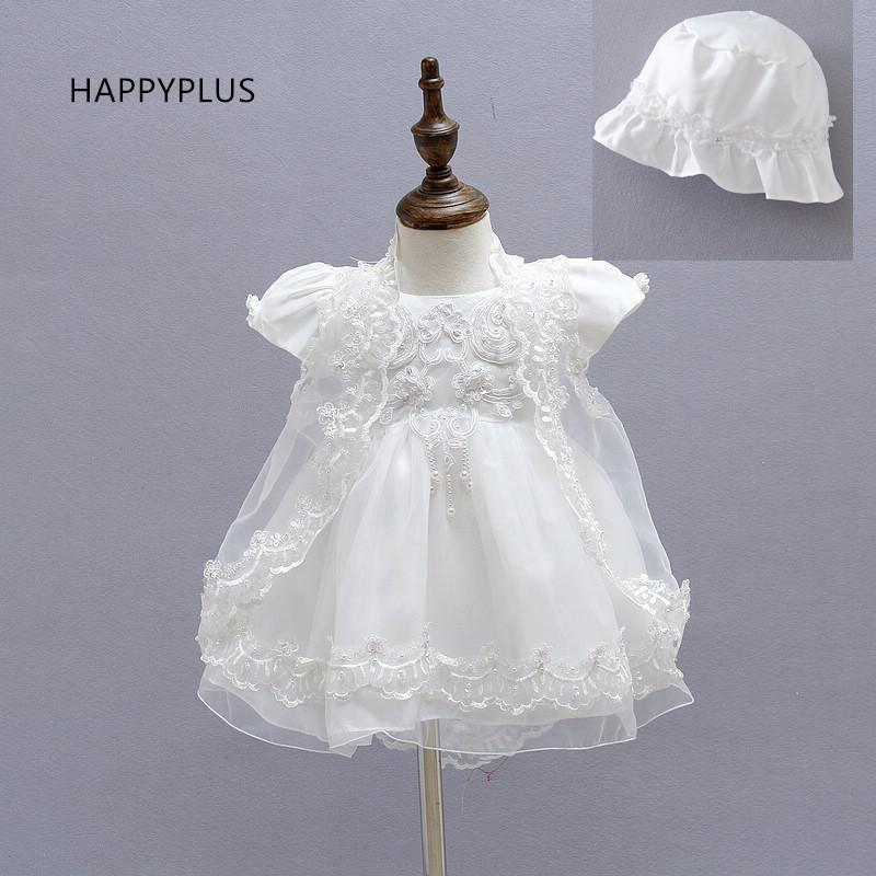 84ebe12f4116e HAPPYPLUS White Ivory Wedding Baby Dresses Girls 1st Birthday Outfit Baby  Girl Christening Gown Dress Infant Baptism Dress