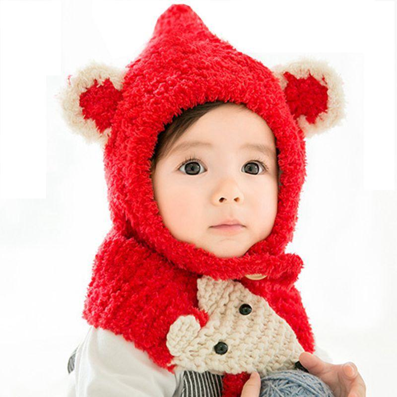 Baby Winter Hat Kid S Cotton Cartoon Pattern Neck Warmer Caps Girl Boy Hats  Infant Knit Hat Children Baby Hats +Scarf Child Cap UK 2019 From Sophia120 775c111db35