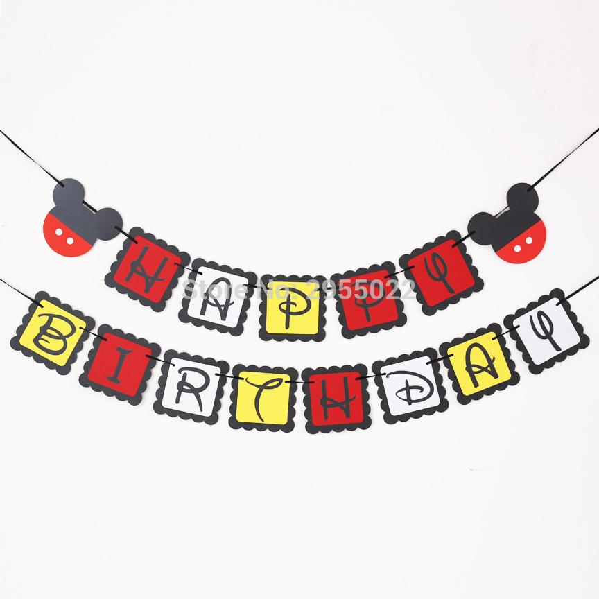2018 Mouse Birthday Banner Mouse Party Birthday Banner Baby Shower